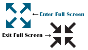 Enter & Exit Full Screen Icons